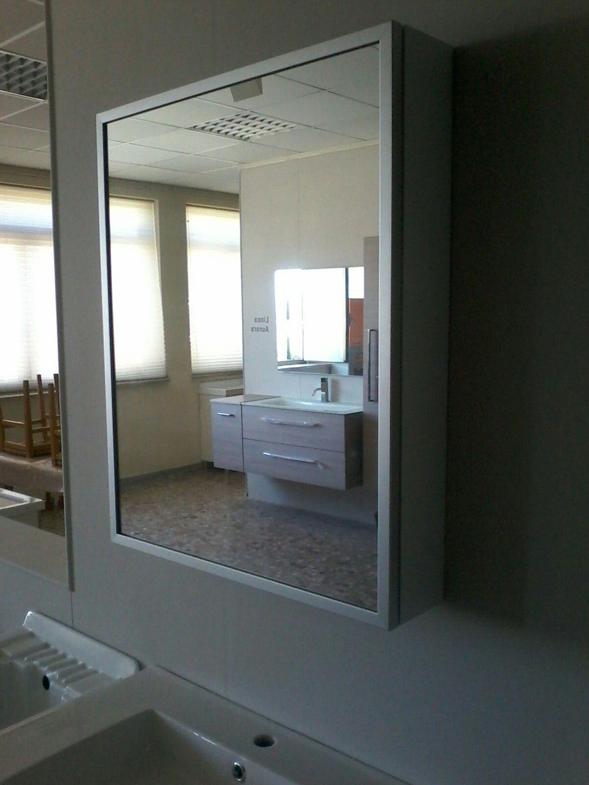 Mobile bagno moderno sospeso zeus 2 in 6 colorazioni mc for Specchio bagno bianco