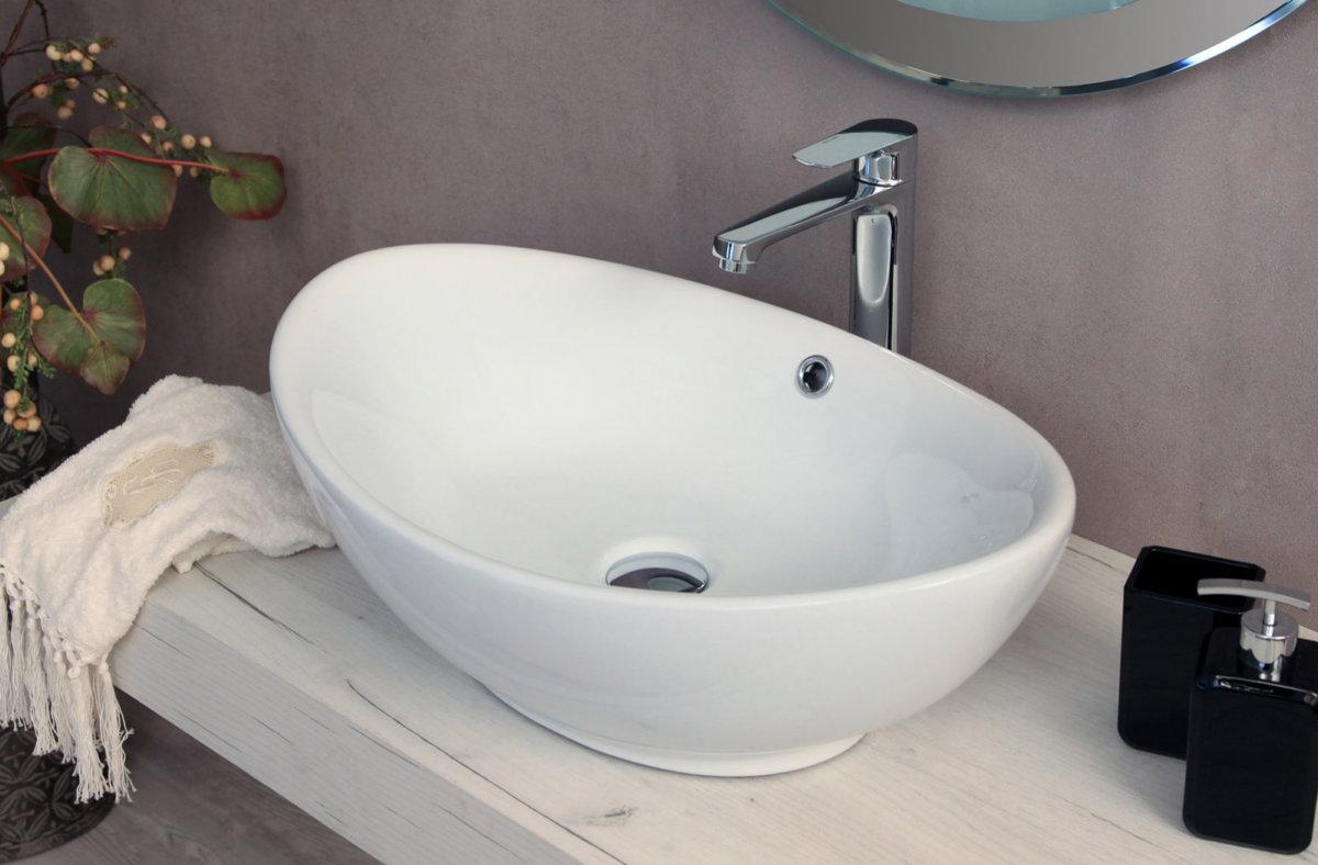 Lavabo da appoggio rettangolare quadrato rotondo ovale in - Bagno italia it ...