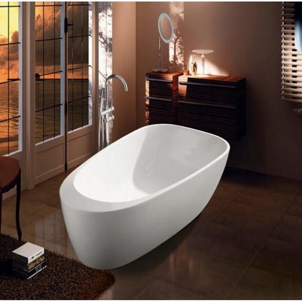 Vasca da bagno freestanding per centro stanza vs059 for Vasca centro stanza