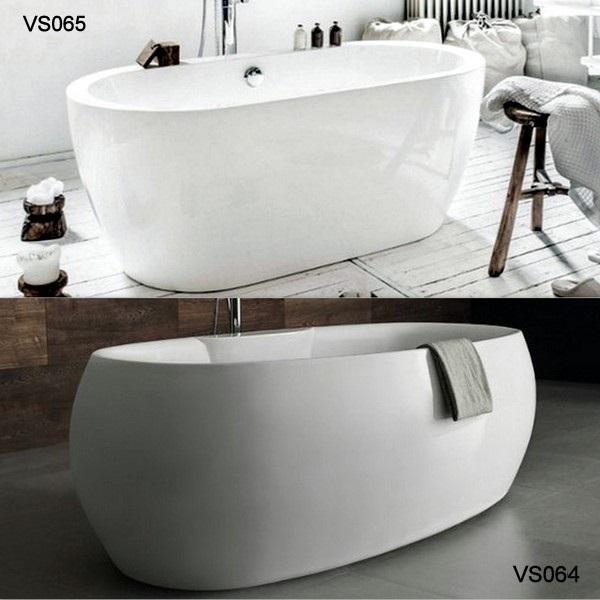 Vasca per centro stanza disponibile in due modelli freestanding - Stucco per vasca da bagno ...