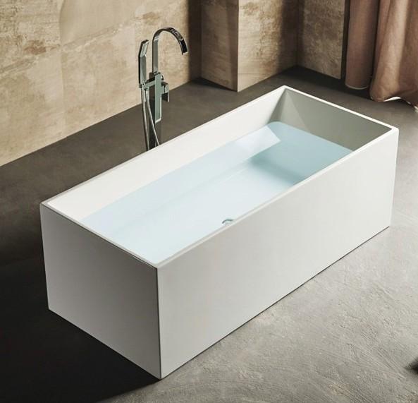 Vasca da bagno 170x75x59 freestanding bianca per centro stanza stile ...