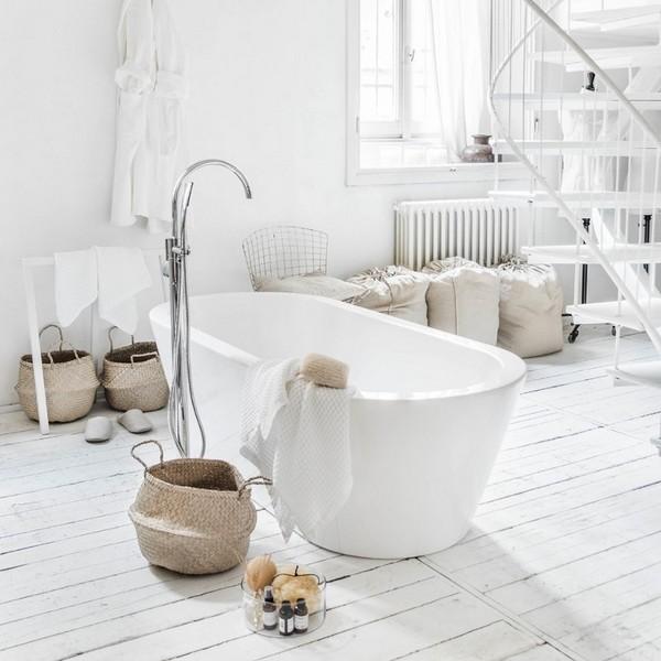 Vasca da bagno bianca 180x80x54h freestanding per centro stanza ...