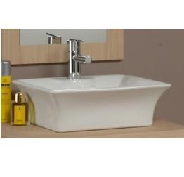 Lavabo d\'appoggio per mobile bagno rettangolare