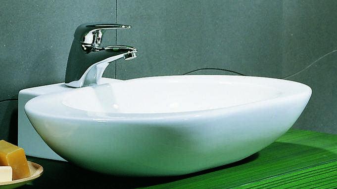 Lavabo d\'appoggio per mobile bagno ovo