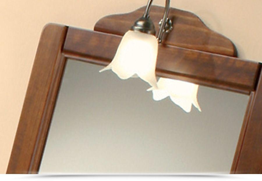 Arredo da bagno alessandria 65 o 75 cm arte povera legno massello specchiera con applique - Applique per il bagno ...