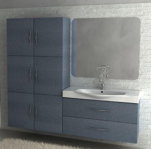Mobile bagno new york per arredo bagno moderno vari colori bh for Arredo bagno bianco