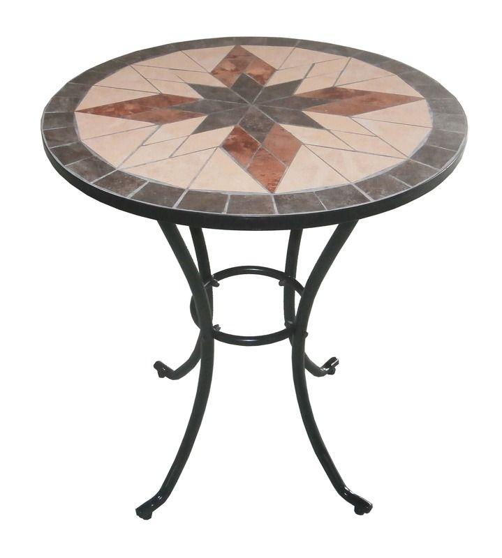 Arredo per esterno Jody tavolo con mosaico 2 sedie in ferro ...