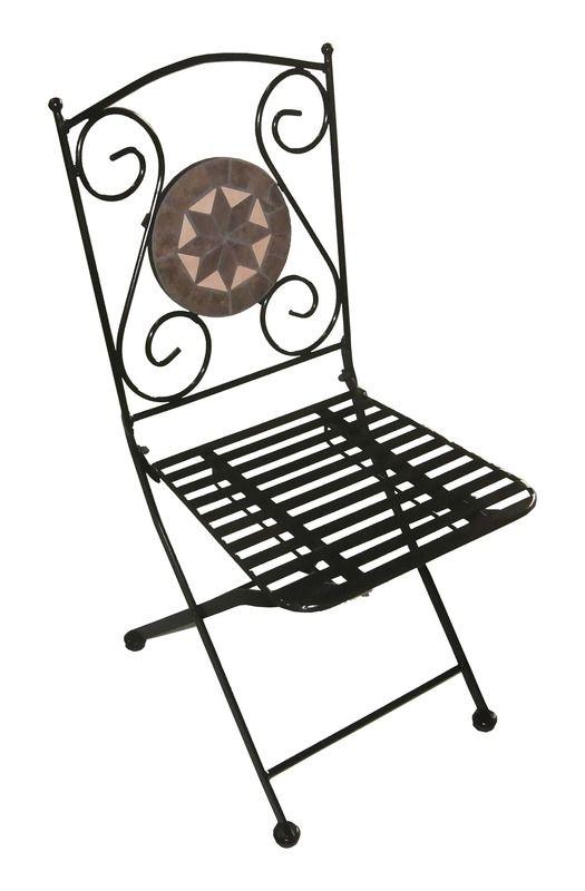 Arredo per esterno jody tavolo con mosaico 2 sedie in for Arredo giardino ferro battuto