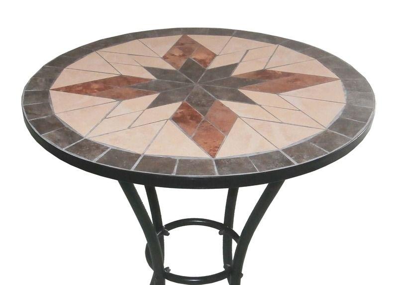 Arredo per esterno jody tavolo con mosaico 2 sedie in ferro battuto pieghevoli per giardino - Mosaico per esterno ...