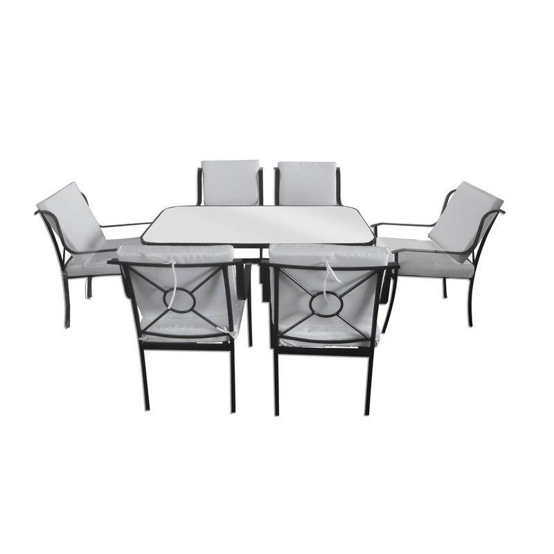 Arredamento da esterno giardino tommy con tavolo 6 sedie for Arredamento da esterno