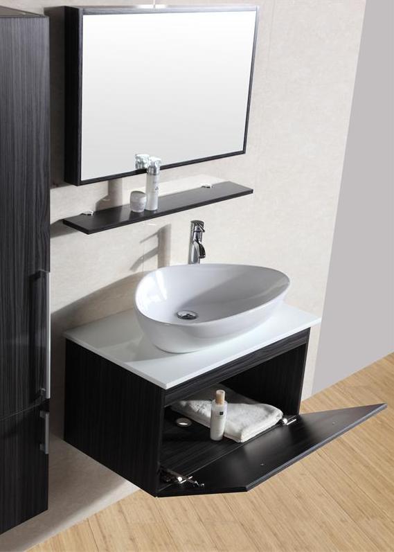 Arredo bagno moderno prisma in rovere o weng pd sb for Arredo bagno milano aperto domenica