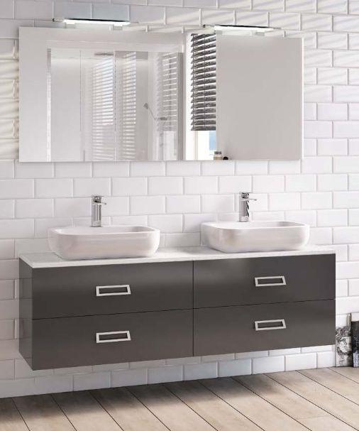 Mobile da arredo per bagno 160 cm doppio lavabo con 2 o 4 - Bagno italia it ...