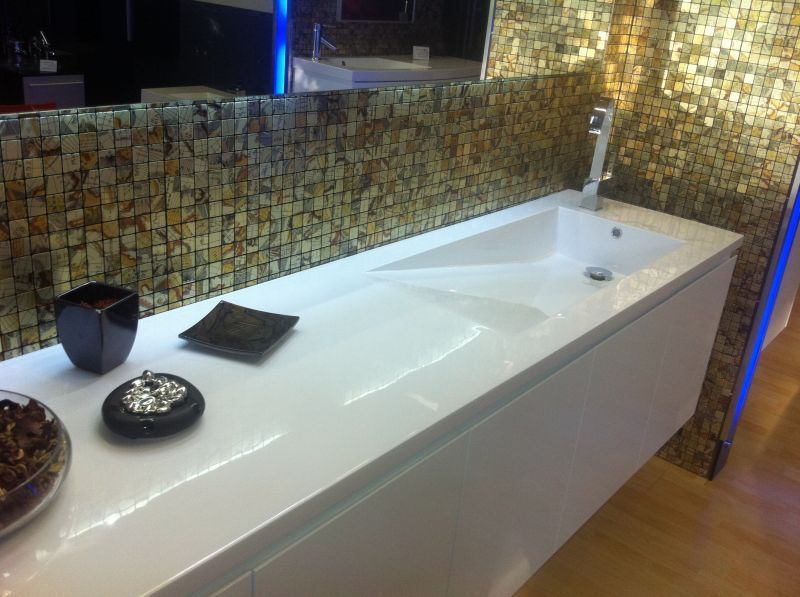 Arredo bagno premium da 160 o 200 cm con lavabo decentrato for Arredo bagno lavabo