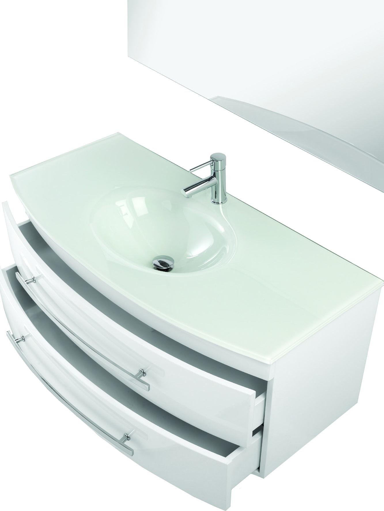 arredo bagno mobile pink cm in colori moderno sospeso con lavabo in cristallo with lavabo bagno vetro