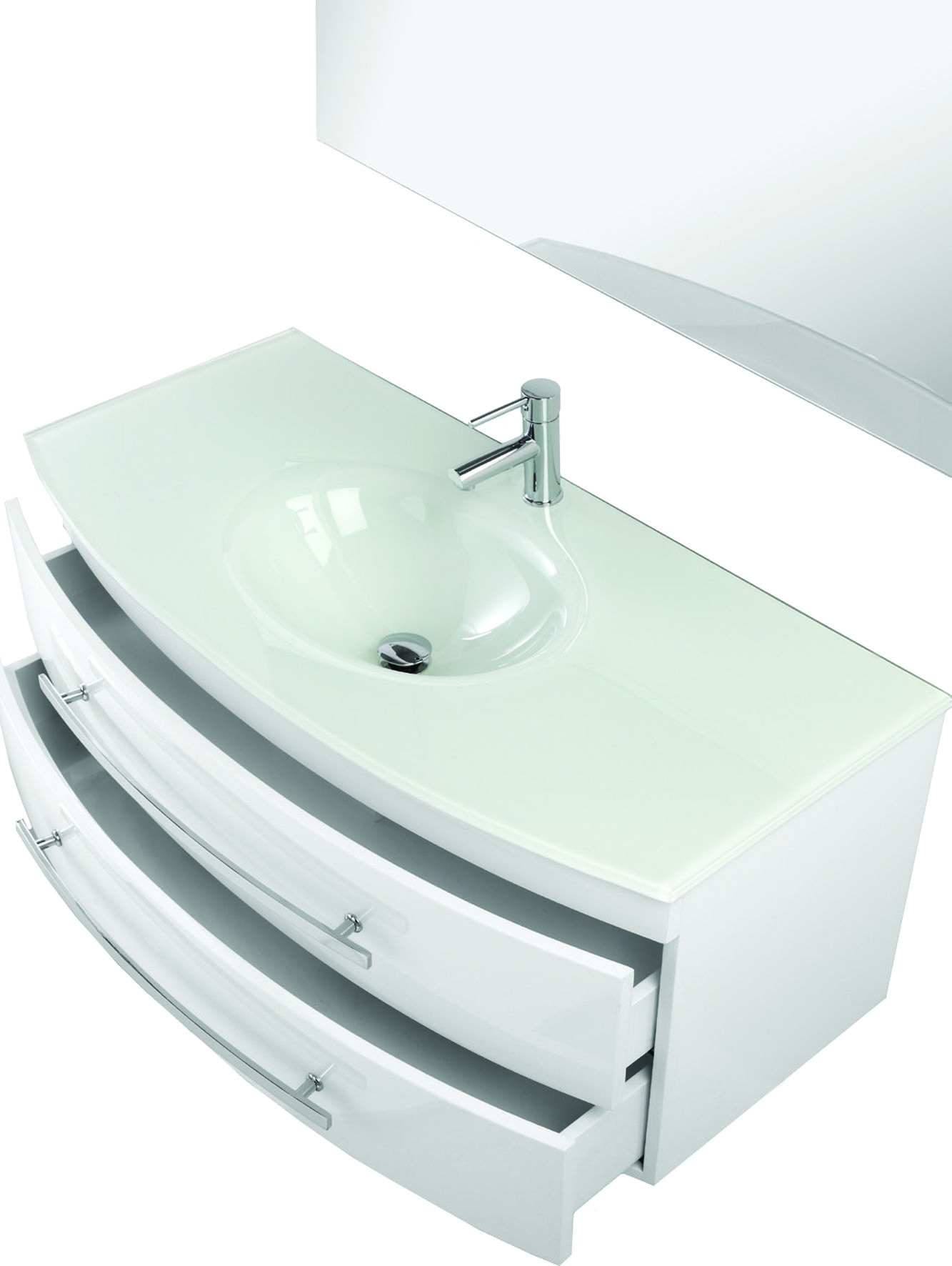 Arredobagno cm 110 in 3 colori tipo sospeso con lavabo in - Bagno largo 110 cm ...