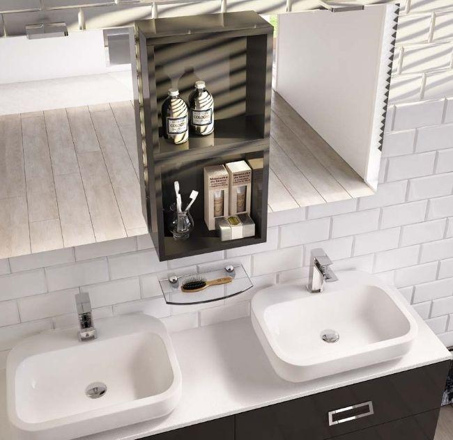Arredo bagno moderno ice doppio lavabo in 30 colori bb - Stufetta elettrica per bagno ...