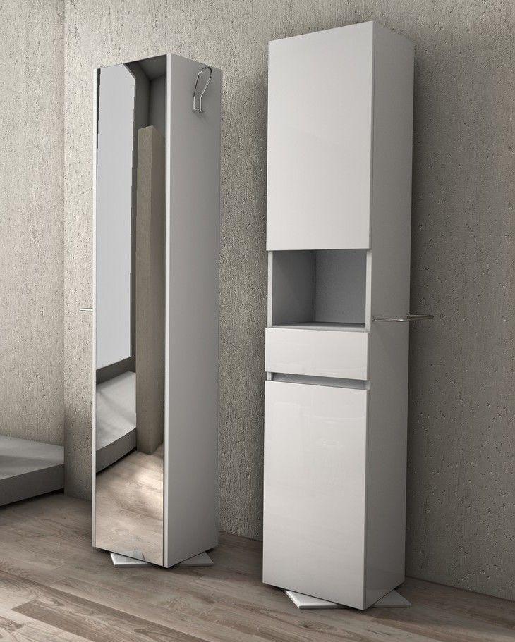 Colonna girevole da bagno b2 in pvc bianca bh - Mobiletto bagno da appendere ...