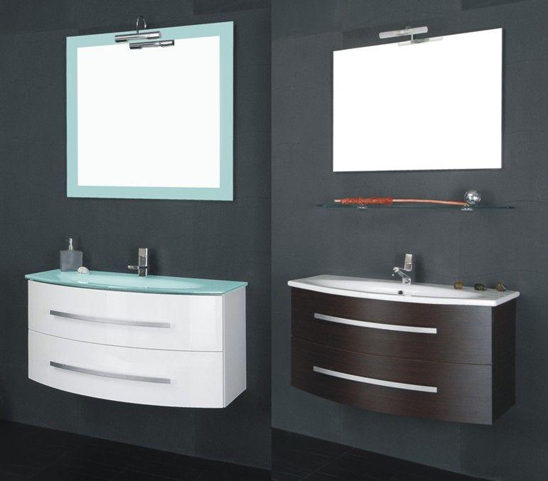 Arredo bagno begas completo di lavabo e specchiera bb - Mobili sospesi per bagno ...