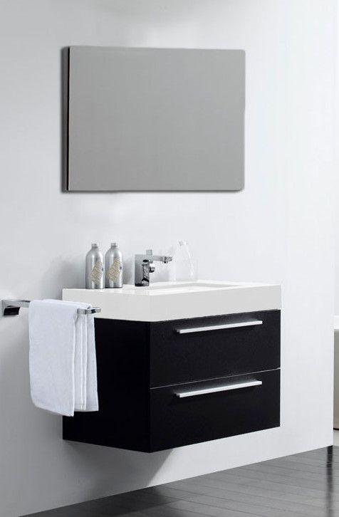 Arredobagno frau 80 cm in color rovere con lavabo for Arredo bagno italia