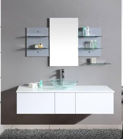 Arredobagno sofia 140 bianco con lavabo da appoggio pd for Bricoman arredo bagno