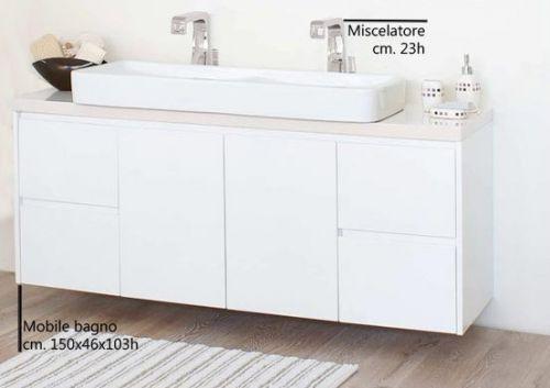Mobili non disponibili : Mobile Bagno Zeus cm 150 con doppio lavabo d ...