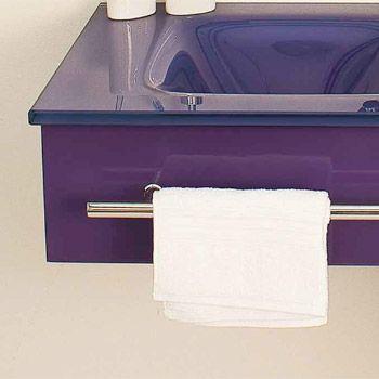 mobile bagno alfa cm  con lavabo in cristallo in tre colorazioni bz, Disegni interni
