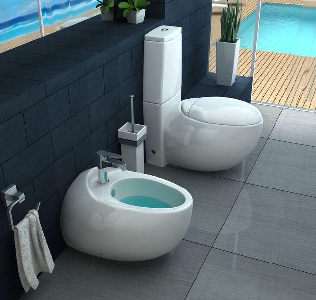 Sanitari bagno moderni in ceramica bianchi a terra sospesi go - Rubinetti moderni bagno ...