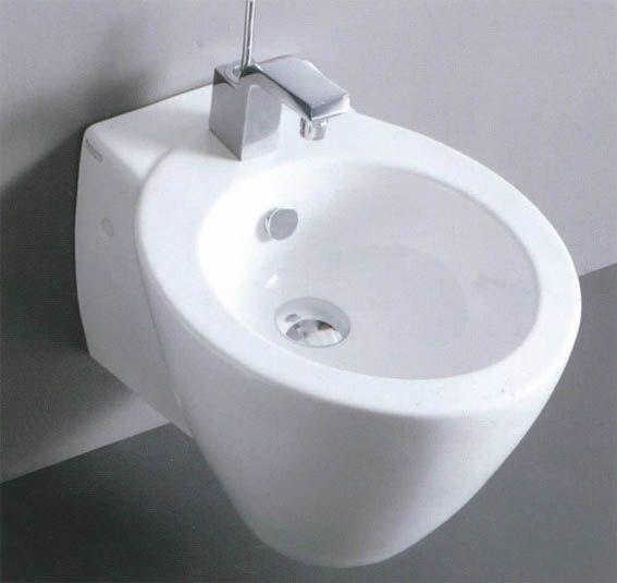 Sanitari bagno sospesi in ceramica azzurra design moderno sm - Sanitari bagno design ...