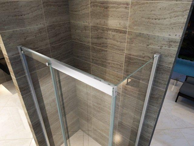 Box doccia anta fissa porta scorrevole H195 chiusura ammortizzata ...