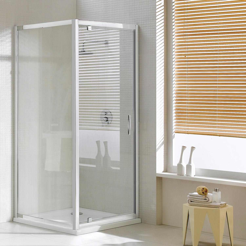 Box doccia anta fissa porta battente con anta unica h185 - Vetri per doccia ...