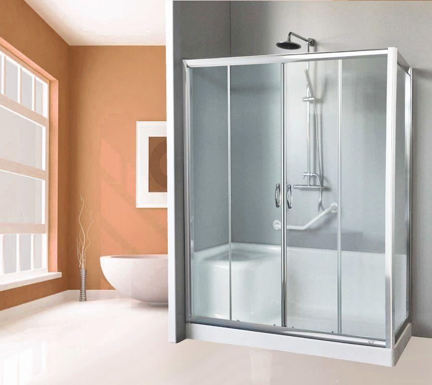 box doccia sostituisci vasca 160/170x70 con o senza seduta ante scorrevole cristallo 6 mm