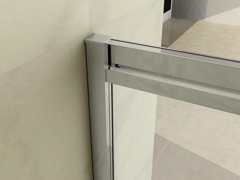 Box doccia cristallo trasparente 6 mm apertura scorrevole - Box doccia chiuso sopra ...