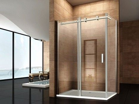 Box doccia angolare con porta scorrevole bagno italia - Box doccia senza telaio ...