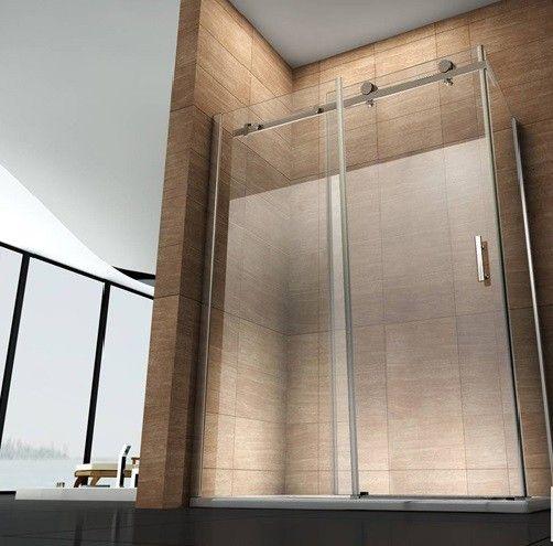 Box doccia angolare, vetro trasparente/opaco   bagno italia pa