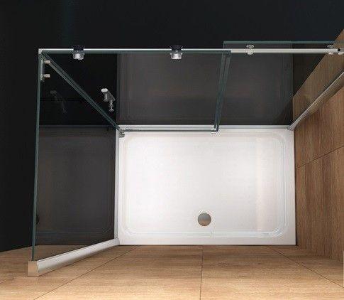 Box doccia angolare con porta scorrevole bagno italia - Doccia senza porta ...