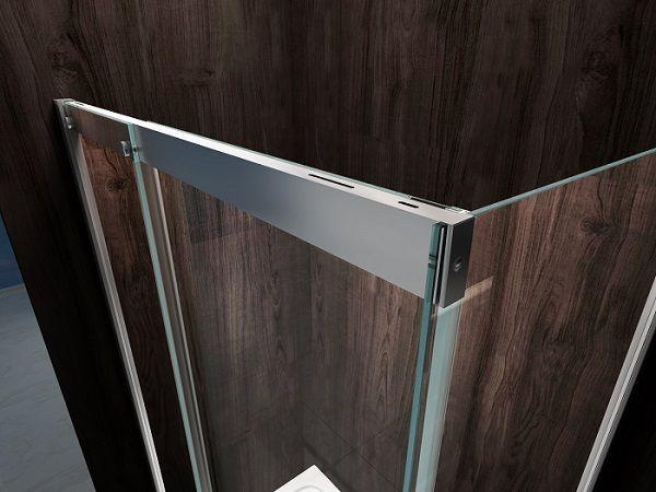 Porta doccia scorrevole per nicchia cristallo trasparente - Chiusura doccia scorrevole ...