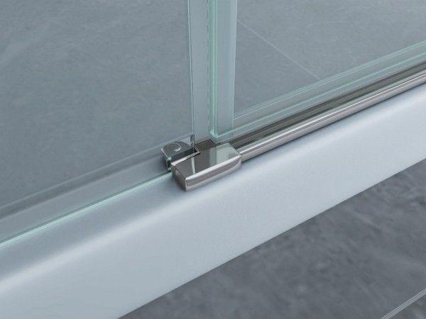 Box doccia in cristallo trasparente 8mm apertura a battente esterno ebay - Siliconare box doccia interno o esterno ...