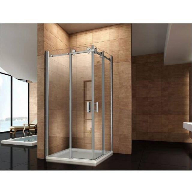 Box doccia angolare vetro trasparente opaco bagno italia pa for Box doccia cristallo