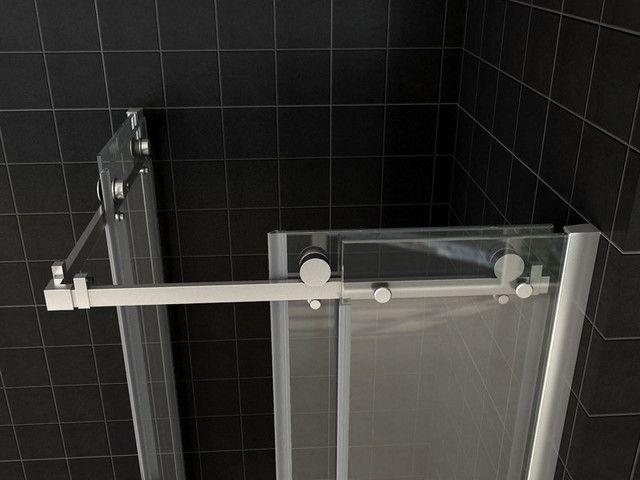 Box doccia angolare vetro trasparente opaco bagno italia pa - Porte in vetro per bagno ...