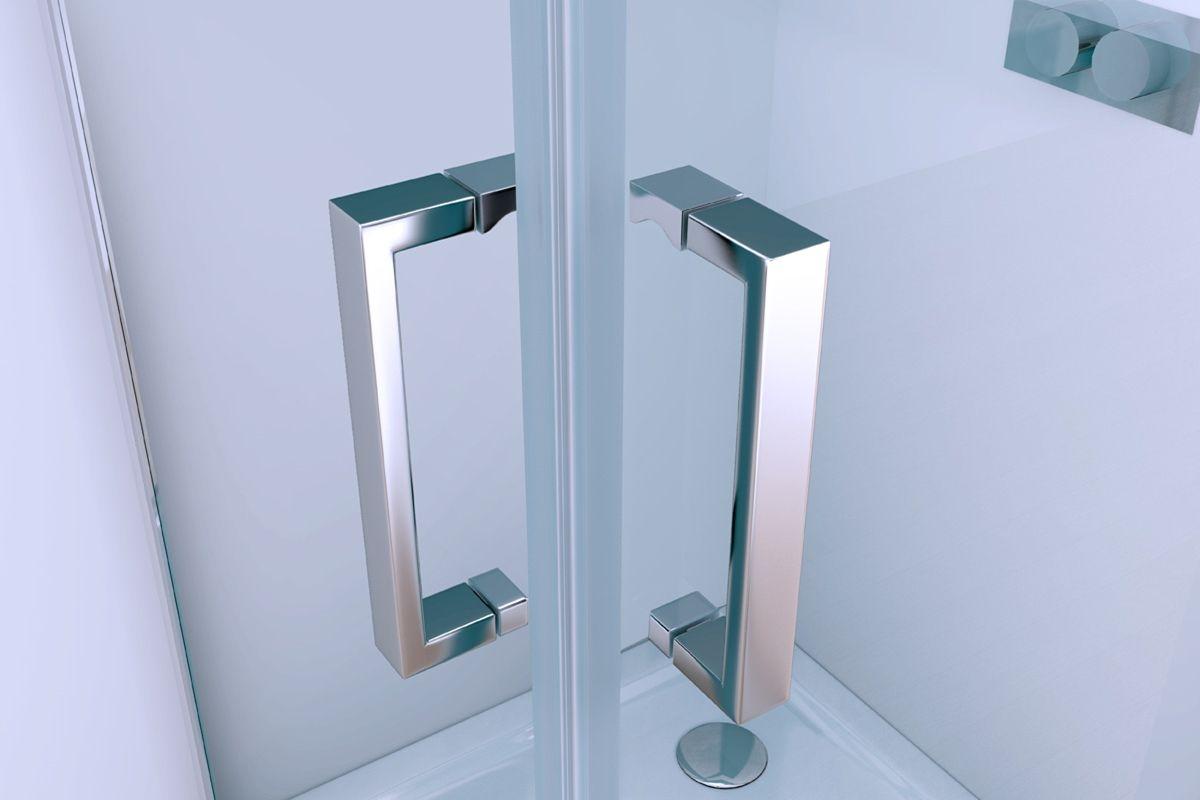 Box doccia angolare doppia apertura a battente h200 for Box doccia cristallo