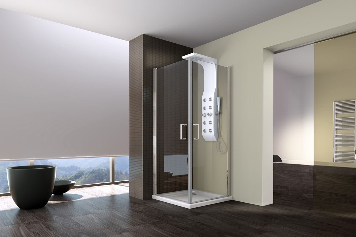 Vismara vetro presenta linea la nuova cabina doccia che si adatta