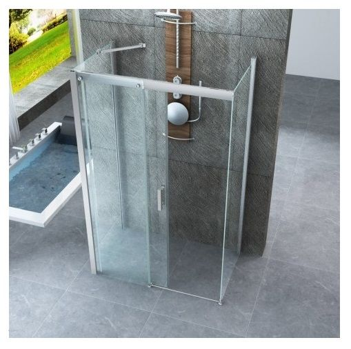 Box doccia 3 lati porta scorrevole cristallo trasparente 8 - Chiusura per porta scorrevole ...