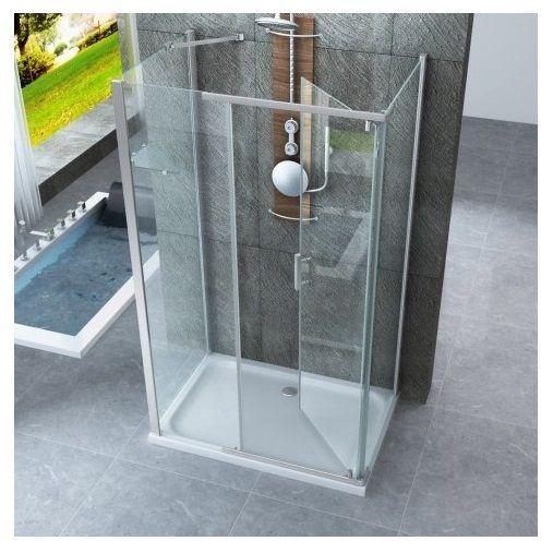 Box doccia anta battente verso interno esterno cristallo - Box doccia da esterno ...