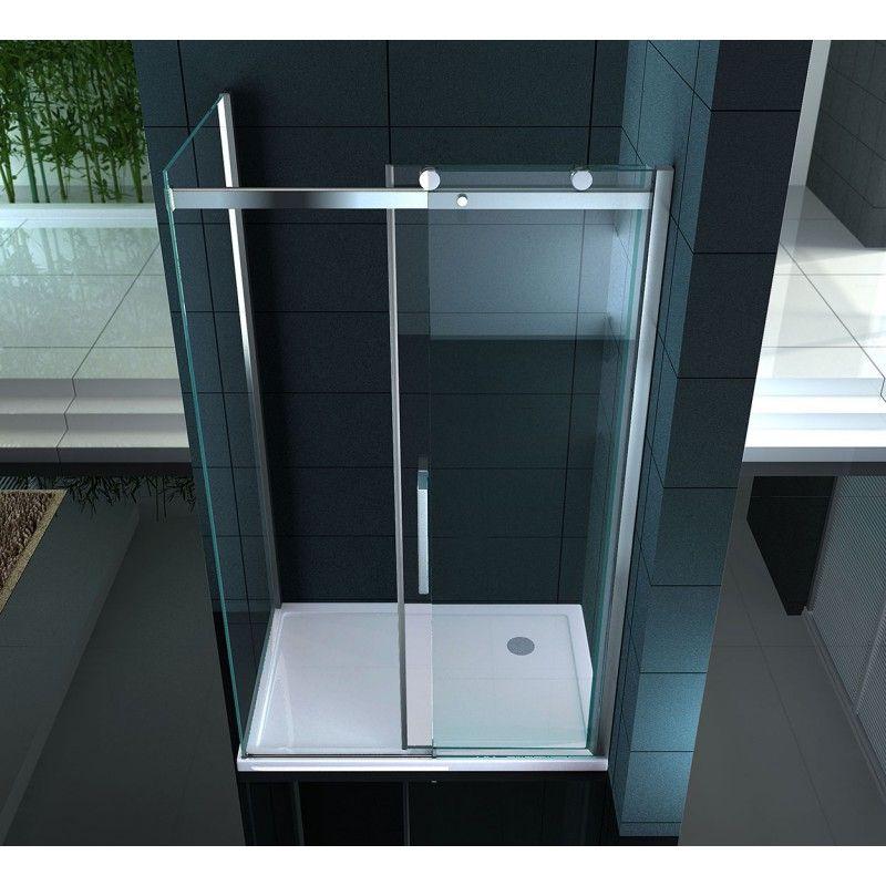 Box doccia anta scorrevole 8 mm con vetro trasparente fumè sinistra destra09...