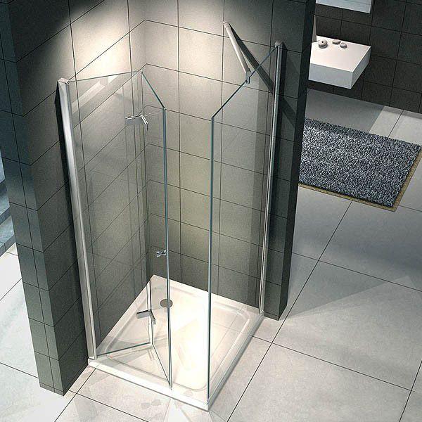 Box doccia angolare vetro trasparente opaco bagno italia pa for Porta a libro bianca con vetro