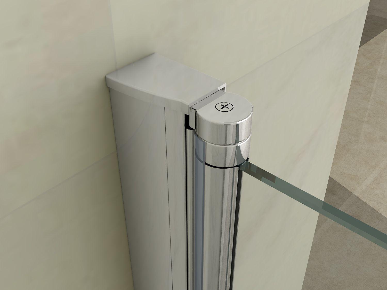 Box doccia apertura a soffietto libro h195 cristallo for Porta a libro bianca con vetro
