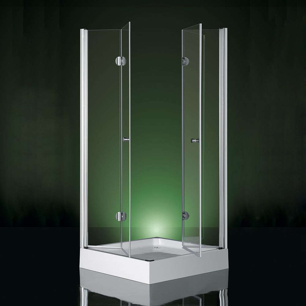 Box doccia apertura doppia a libro soffietto vetro - Bagno italia it ...