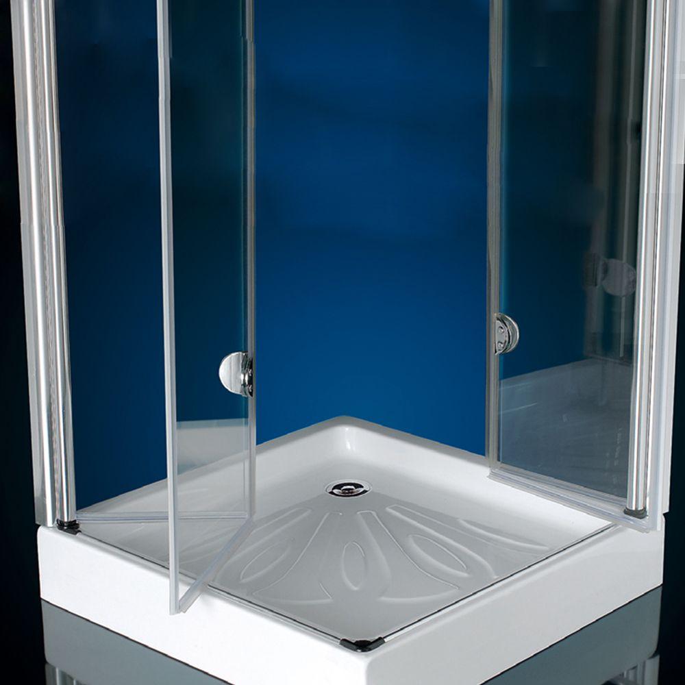 Box doccia doppia apertura a libro soffietto cristallo 6 - Box doccia libro ...