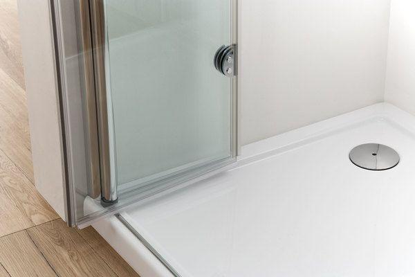 Box doccia doppia apertura a libro soffietto cristallo 6 mm trasparente in diverse misure - Cabine doccia a soffietto ...