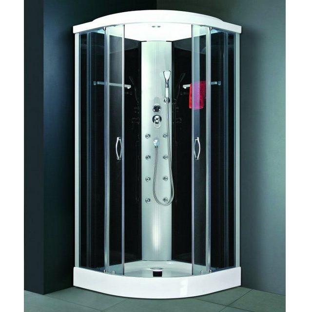 Box doccia idromassaggio 80x80cm cromoterapia cristalli vi for Box doccia con idromassaggio